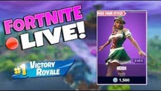 NEW HEIDI SKIN GAMEPLAY! Max Calamity? // 1,200 Wins - FORTNITE LIVE