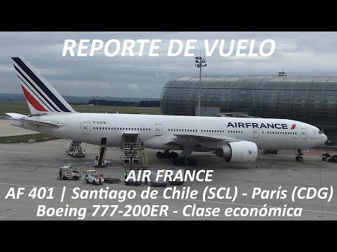 Air France AF 401   Santiago de Chile (SCL) - París (CDG)