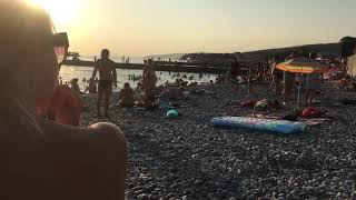 Дивноморское 2017 пляж вечер