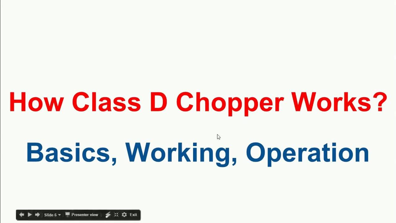 hight resolution of how class d chopper works class d chopper operation power electronics a to z