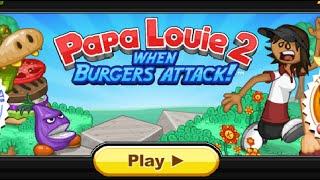 Папа Луи 2, Атака Гамбургеров. Papa Louie 2, Attack hamburger.