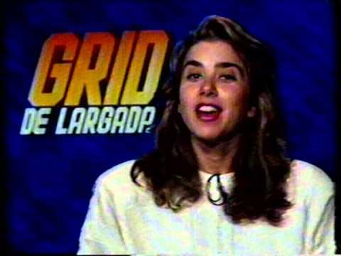 Mylena Ciribelli apresentando o Grid de Largada - TV Manchete 1990