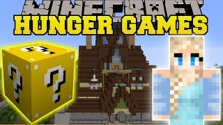 MINECRAFT MODS - FROZEN HUNGER GAMES - Lucky Block Mod   Modded Mini Game