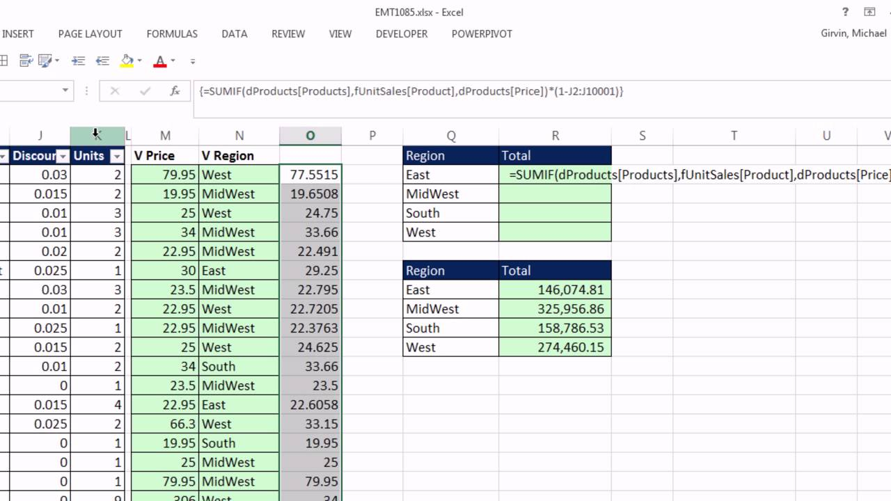 Excel Magic Trick 1085 How To Simulate Vlookup Helper