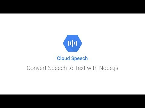 Getting Started With Converting Speech To Text With Node.js