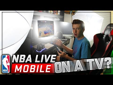 PLAYING NBA LIVE MOBILE ON A TV!?