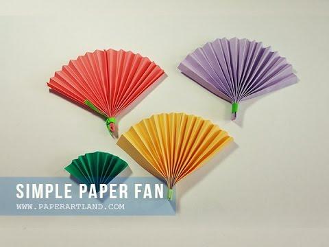 How to make a Paper Fan  (ハリセン ) - Cómo hacer un abanico de papel
