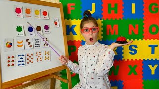 Eva learns the English Alphabet - Kids Learning Videos with Eva Surprise