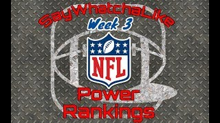 Week 3 Top 10 NFL Power Rankings