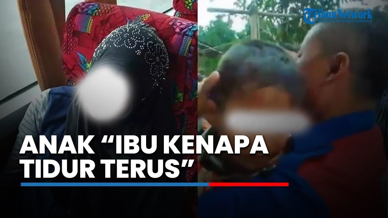 Hasil gambar untuk Ibunya Meninggal di Bus Primajasa, Anak Nurhayati Menangis Digendong Sopir: Mamah Kenapa Tidur Terus