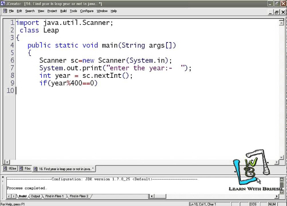 leap year java program