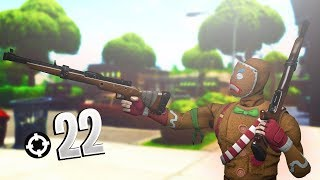 22 Kill Using Hunting Rifle Only!! (Fortnite Battle Royale)