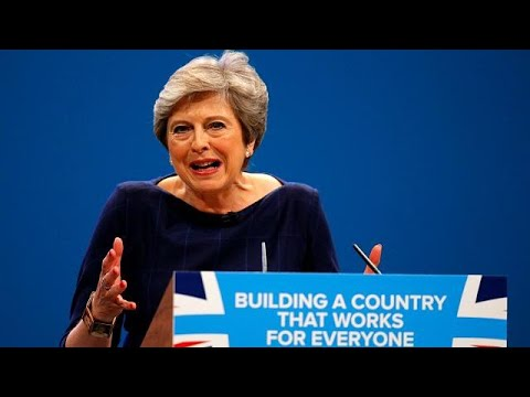 British PM Theresa May delivers key speech - and lots of coughing