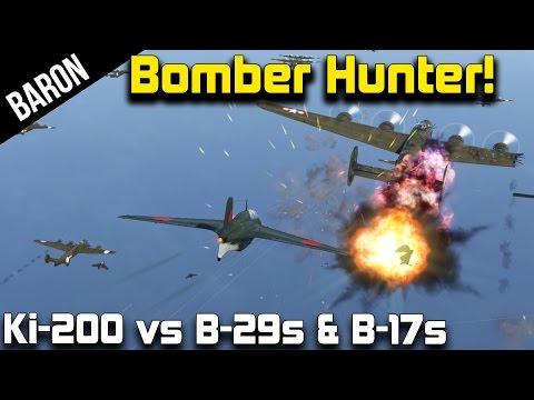 War Thunder Bomber Hunter!  Ki-200 vs B-29 and B-17 Bombers!