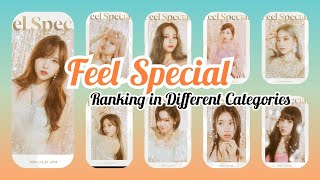TWICE Feel Special Ranking In Different Categories