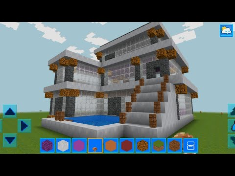 RealmCraft with Skins Export to Minecraft Gameplay #80 (iOS & Android) | Modern Mansion