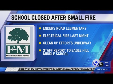 Enders Road Elementary School closed after small fire