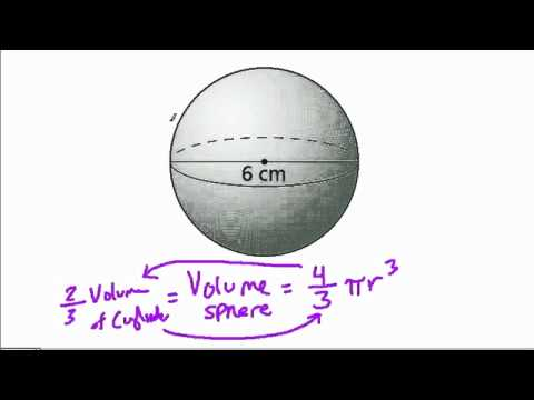 Volume of a sphere given diameter youtube volume of a sphere given diameter ccuart Choice Image