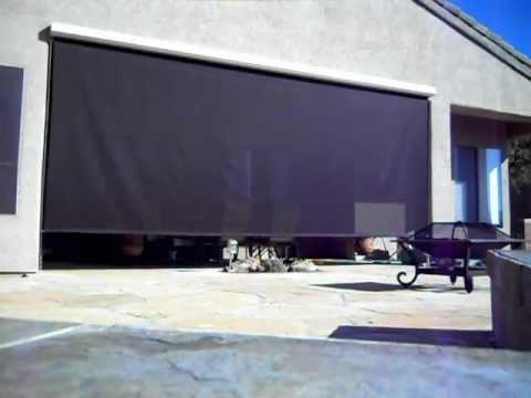 20ft. Exterior Motorized Roller Shade - YouTube