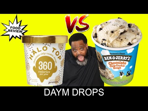 Food Fight: Ben & Jerry's vs Halo Top CHOCOLATE CHIP COOKIE DOUGH