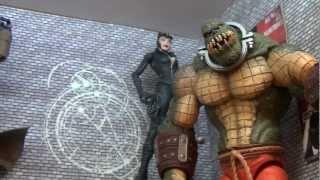 Batman Arkham City Asylum Figures and Diorama (Killer Croc, Mr Freeze, Riddler etc)