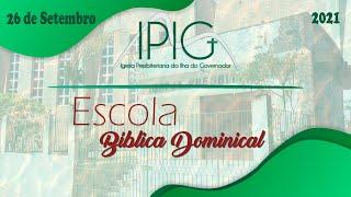 Escola Bíblica Dominical • Símbolos de Fé da IPB - Harmonia • 26/09/2021
