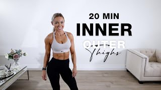 20 Min INNER + OUTER THIGH WORKOUT | Ankle Weights Optional