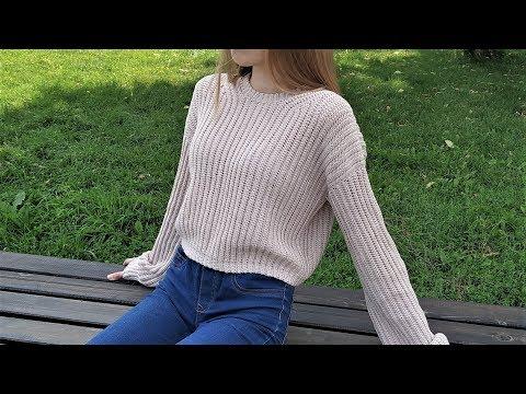 Связать пуловер женский крючком схема молодежный