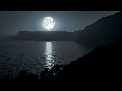 Sea Waves, Full Moon And Relaxing Rain. Sounds Of Nature For Sleeping.  197 0+