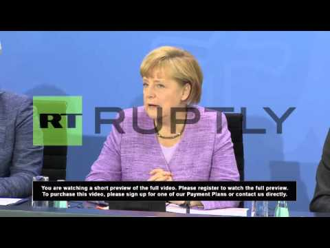 Germany: Merkel, Barroso and Hollande talk unemployment and Snowden