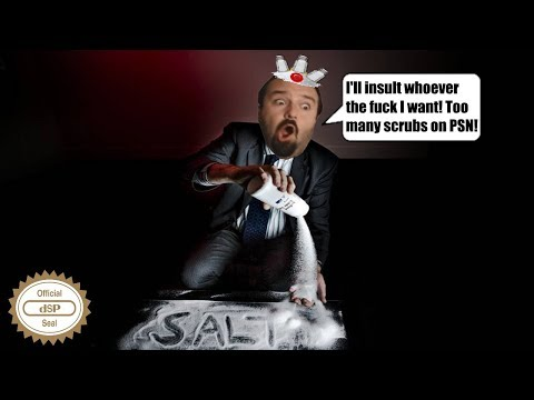 DSP tries it: Insulting a teammate on PSN during salty online session! + Bonus Toxic SALT!