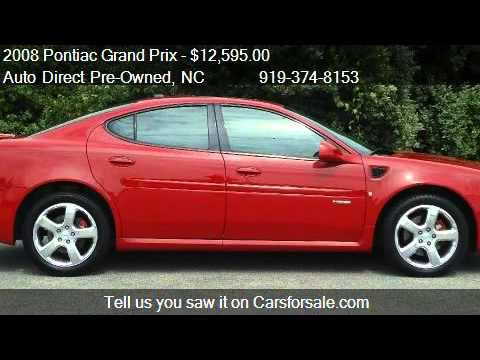 2008 pontiac grand prix gxp sedan for sale in wendell nc youtube. Black Bedroom Furniture Sets. Home Design Ideas