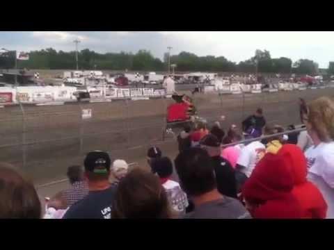 Mid-Nebraska Speedway: Sprint crash on 8/18/12