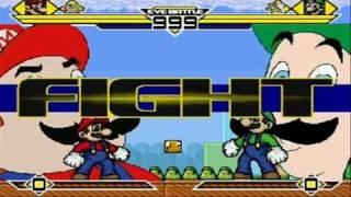 Super Mario & Hotel Mario vs Super Luigi & Hotel Luigi MUGEN Battle!!!