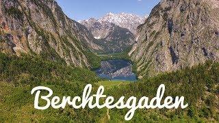 4K Berchtesgadener Land in Bavaria German Alps drone footage