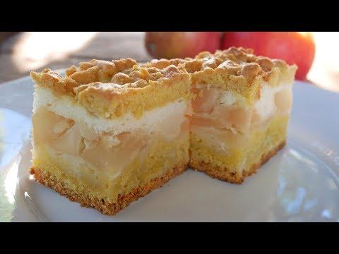 Яблочный пирог тает во рту, Вкусный пирог с яблоками рецепт.
