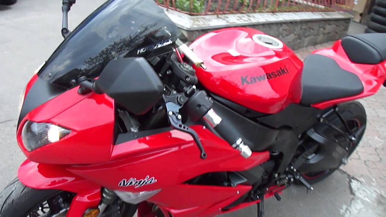 KAWASAKI Ninja 600 ZX-6R 2010 Red - YouTube