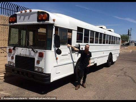 Meet the family who spent $30,000 transforming a rusty school bus into a VERY stylish mobile home