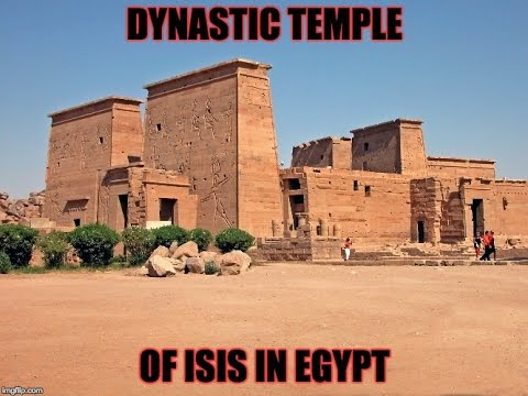 Dynastic Temple Of Isis In Egypt