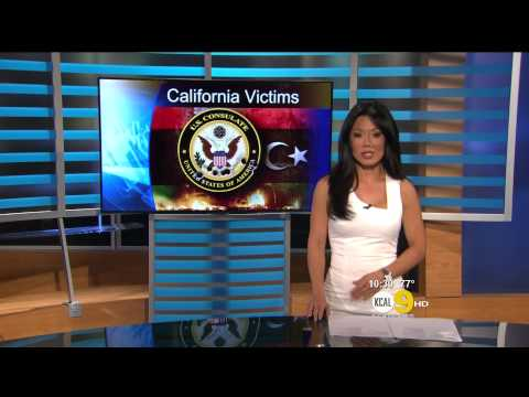 Sharon Tay 2012/09/13 KCAL9 HD; White dress