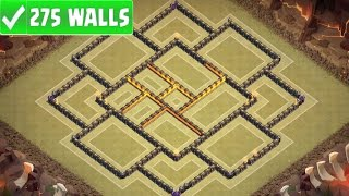 "Clash Of Clans | ""NEW"" TOWN HALL 10 (TH10) ANTI 3 STAR WAR BASE w/275 WALLS 
