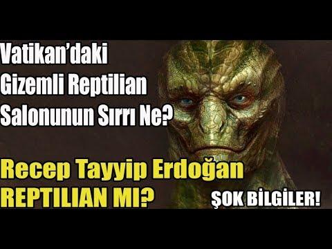 ŞOK GÖRÜNTÜLER ! Recep Tayyip Erdogan Reptilian mı? Vatikanın Gizemli Salonunun Sırrı Ne?