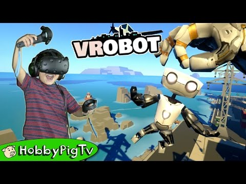 PC Virtual Reality Giant Robot Attacks City HobbyPigTV