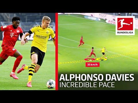 FC Bayern's Roadrunner – Alphonso Davies Shows Incredible Speed Vs. Dortmund's Haaland