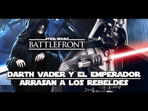 DARTH VADER y el EMPERADOR ARRASAN a los REBELDES | Star Wars Battlefront Gameplay Español