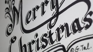 How To Write Merry Christmas Easy Step by Step Fancy Swirly Calligraphy Letters