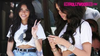 Madison Beer Wears A $10,000 Rolex Watch To Lunch With Her Dad At Il Pastaio In Beverly Hills