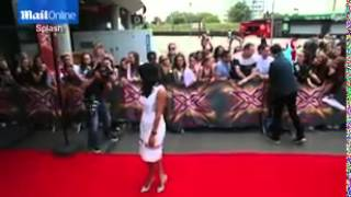 Sarah-Jane Crawford arrives at X Factor...