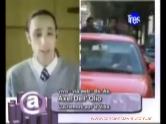 2010 - Canal 3 Rosario - Axel Dell' Olio sobre cómo mejorar las estadísticas del tránsito