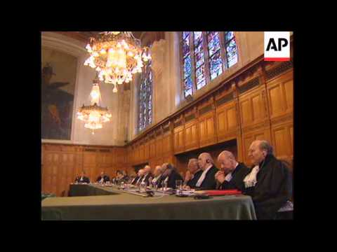 THE NETHERLANDS: WORLD COURT HEARS LOCKERBIE BOMBING ARGUMENTS
